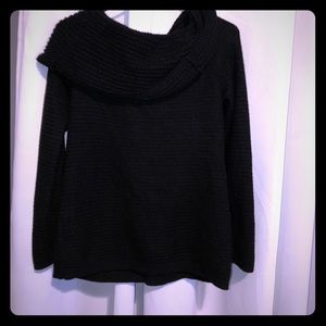 Black cowl neck sweater from WHBM